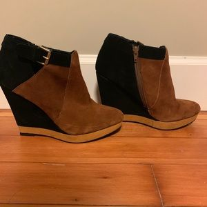 Dolce Vita suede wedge booties- like new